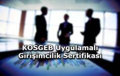KOSGEB Uygulamalı Girişimcilik Sertifikası